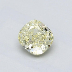 0.66-Carat Light Yellow Cushion Cut Diamond