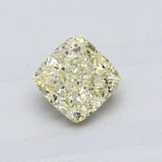 0.60-Carat Light Yellow Cushion Cut Diamond