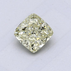 0.64-Carat Light Brownish Greenish Yellow Cushion Cut Diamond