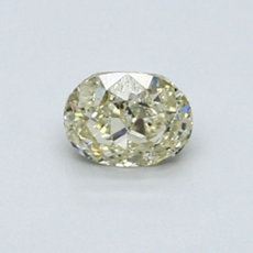 0.53-Carat Light Brownish Greenish Yellow Oval Cut Diamond