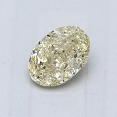 0.65-Carat Light Brownish Yellow Oval Cut Diamond