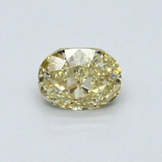 0.56-Carat Brownish Yellow Oval Cut Diamond