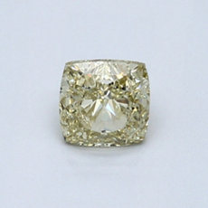 0,66-Carat Brownish Greenish Yellow Cushion Cut Diamond