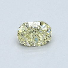0.52-Carat Light Greenish Yellow Cushion Cut Diamond