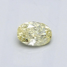 0.44 克拉黄色椭圆形切割钻石