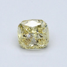0,73-Carat Yellow Cushion Cut Diamond