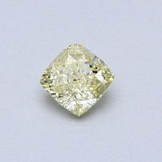 0,43-Carat Yellow Cushion Cut Diamond