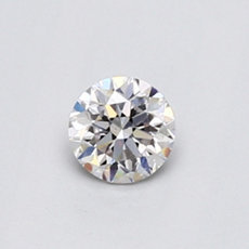 Diamant rond 0,41 carat rose
