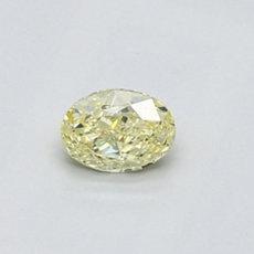 0.35 克拉黄色椭圆形切割钻石