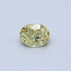 0.32-Carat Intense Yellow Oval Cut Diamond