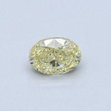 Diamant ovale 0,37 carat jaune intense