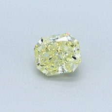 0,42-Carat Yellow Radiant Cut Diamond