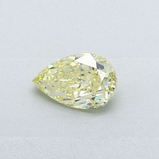 0,37-Carat Yellow Pear Shaped Diamond