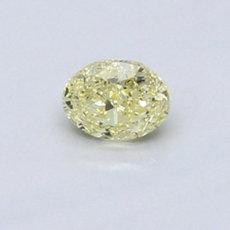Diamant ovale 0,42 carat jaune intense