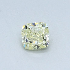 0,46-Carat Light Yellow Cushion Cut Diamond