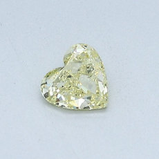 0.34-Carat Yellow Heart Shaped Diamond