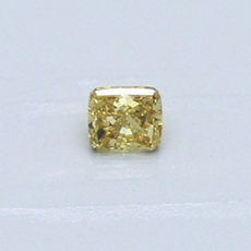 0.27-Carat Vivid Yellow Cushion Cut Diamond