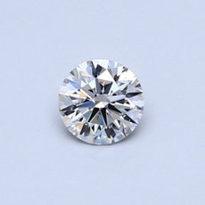 0,35-Carat Faint Pinkish Brown Round Cut Diamond