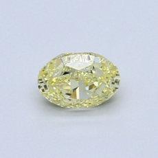 0.50 克拉深黃橢圓形切割鑽石