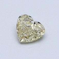 Diamant taille cœur jaune clair 0,60 carat