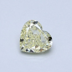 Diamant taille cœur jaune clair 0,61 carat