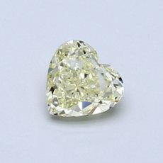 0.62 克拉淺黃心形鑽石