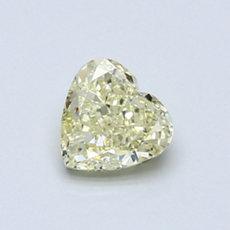 Diamant taille cœur jaune clair 0,70 carat