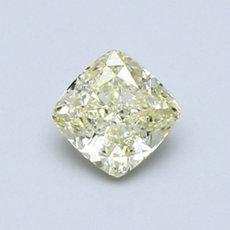 0.70 克拉淺黃墊形切割鑽石