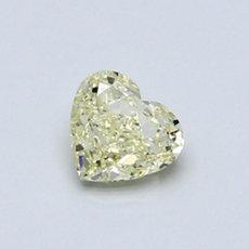 Diamant taille cœur jaune clair 0,51 carat