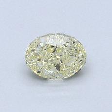 0.71 克拉淺黃橢圓形切割鑽石
