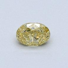 Diamant ovale 0,50 carat jaune intense