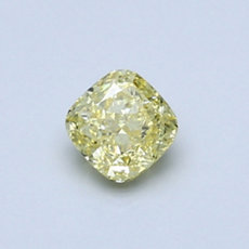0.50-Carat Intense Yellow Cushion Cut Diamond