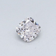 0,33-Carat Faint Pink Cushion Cut Diamond