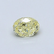 Diamant jaune taille ovale 0,51 carats