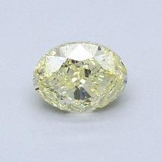 0.80-Carat Yellow Oval Cut Diamond