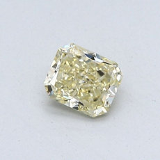 0,42-Carat Brownish Yellow Radiant Cut Diamond