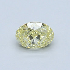Diamante Talla ovalada de color amarillo de 0.62 quilates