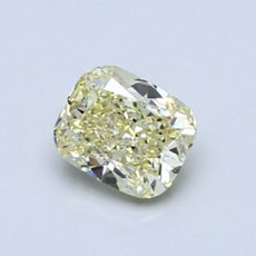 0,70-Carat Yellow Cushion Cut Diamond