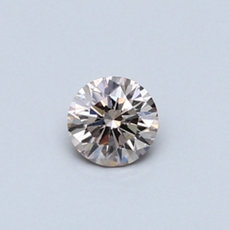 0.28-Carat Light Brown Round Cut Diamond