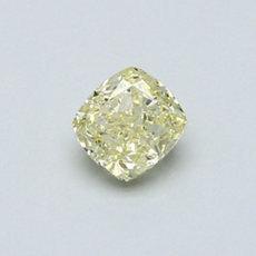 0.51-Carat Yellow Cushion Cut Diamond