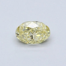 0,53-Carat Yellow Oval Cut Diamond