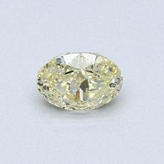 0.54 克拉淺黃橢圓形切割鑽石