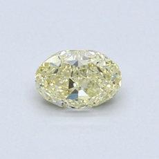0.62 克拉淺黃橢圓形切割鑽石