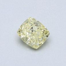 0.50 克拉黄色垫形切割彩钻