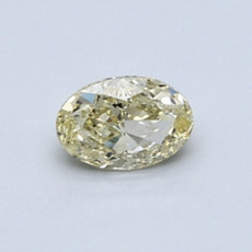 0.52-Carat Yellow Oval Cut Diamond