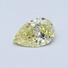 0.51-Carat Yellow Pear Shaped Diamond