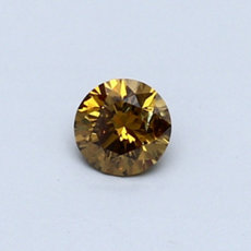 0.29-Carat Dark Brownish Yellow Round Cut Diamond