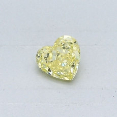 0.26-Carat Intense Yellow Heart Shaped Diamond