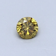 0.28-Carat Dark Brownish Yellow Round Cut Diamond