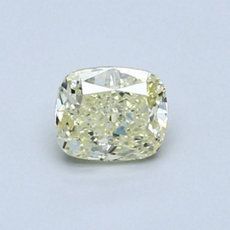 0.52-Carat Light Yellow Cushion Cut Diamond